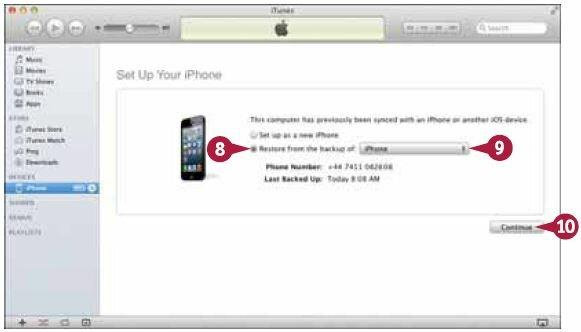 Выберите в выпадающем меню имя своего iPhone