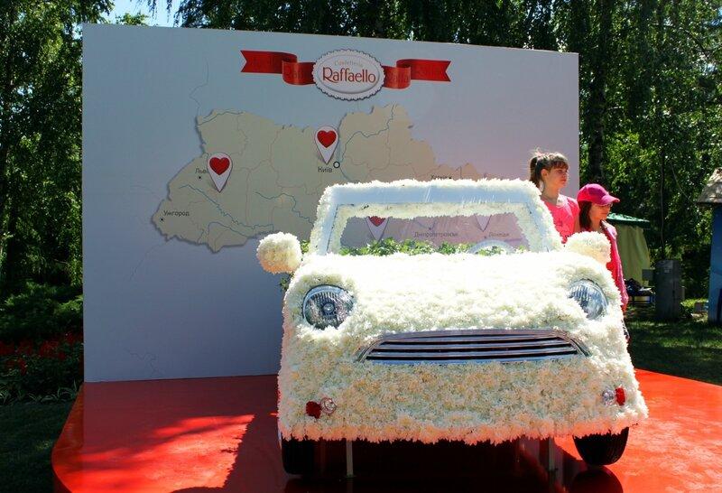 Цветочный автомобиль Raffaello