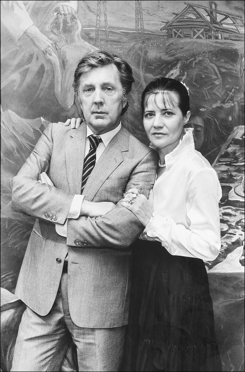 Ilya Glazunov with His Wife Nina Vinogradova-Benois.jpg