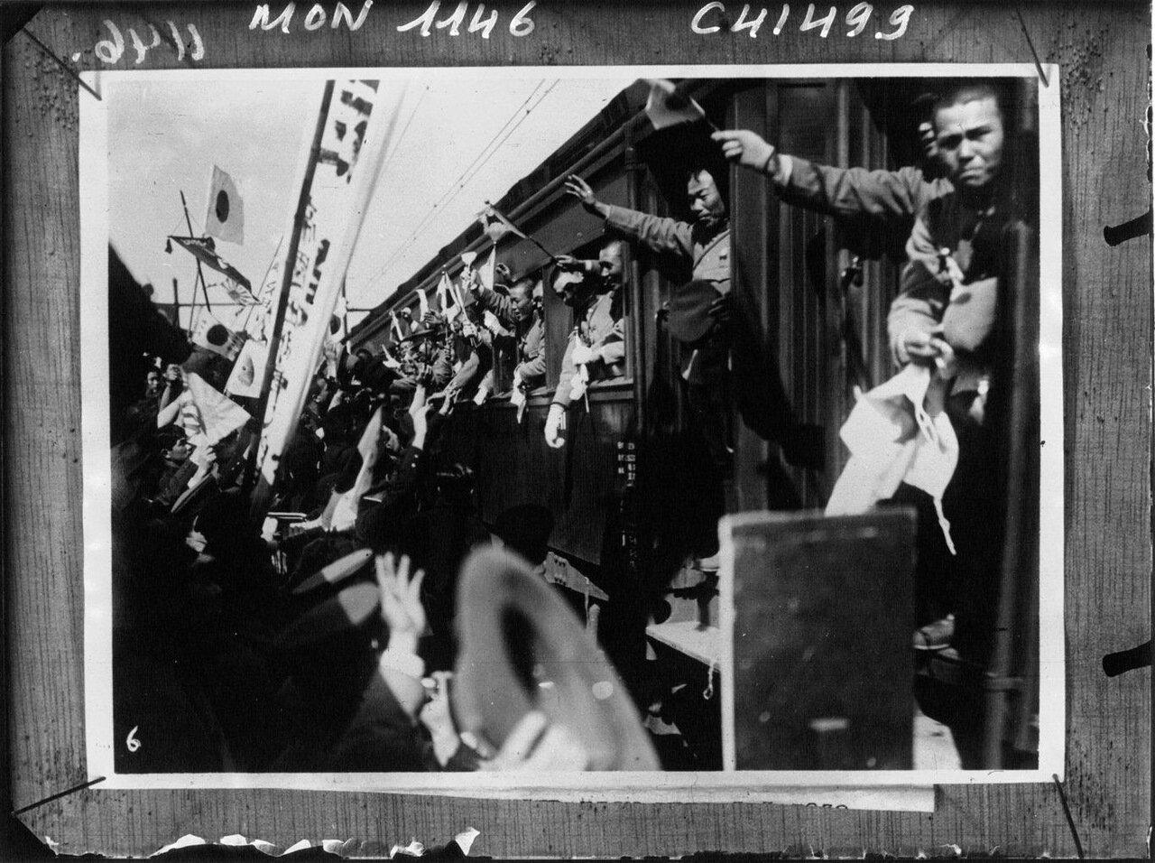 Отправка японских войск в Шанхай. Токио