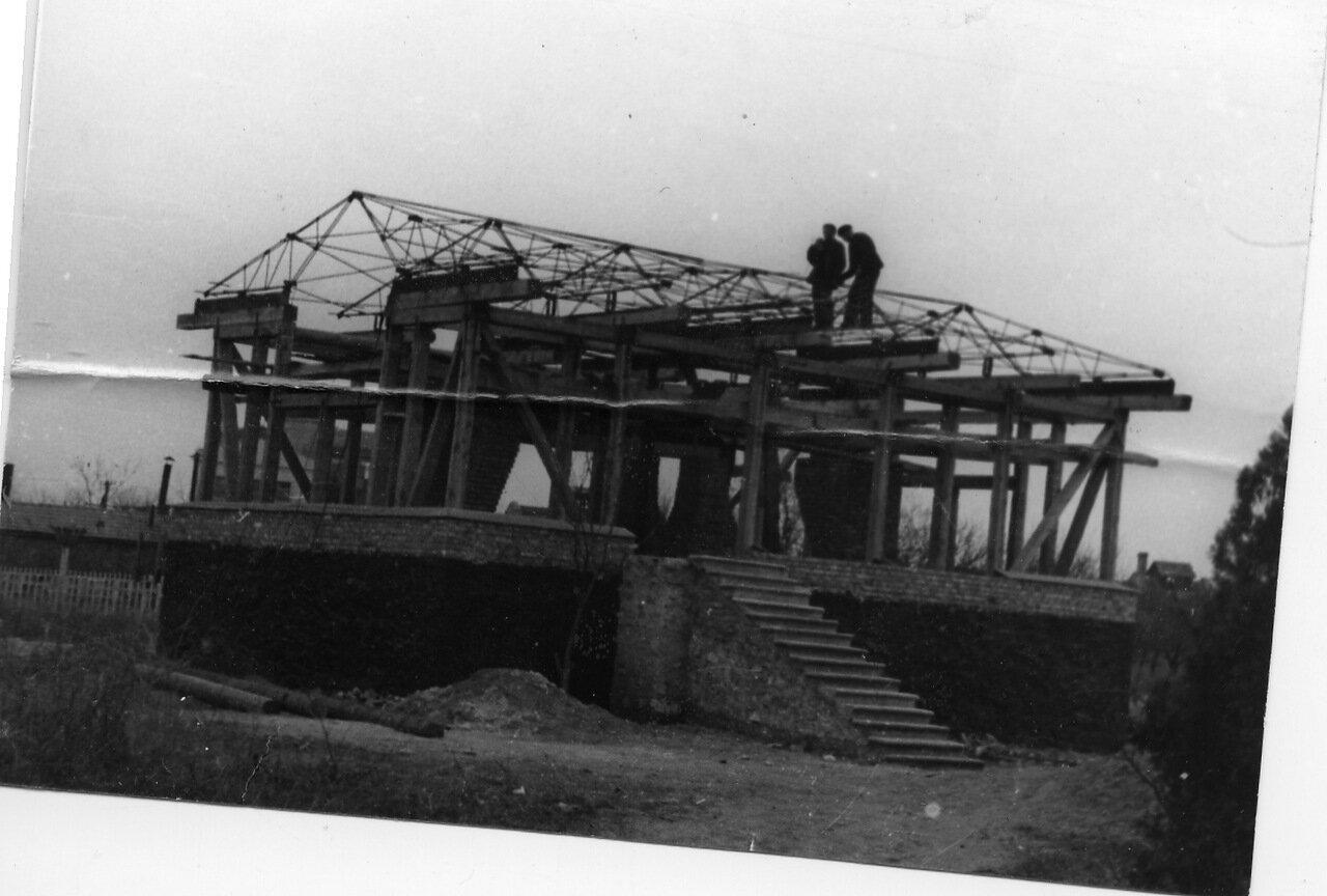 Строительство павильона МКР в 1954-55 г.