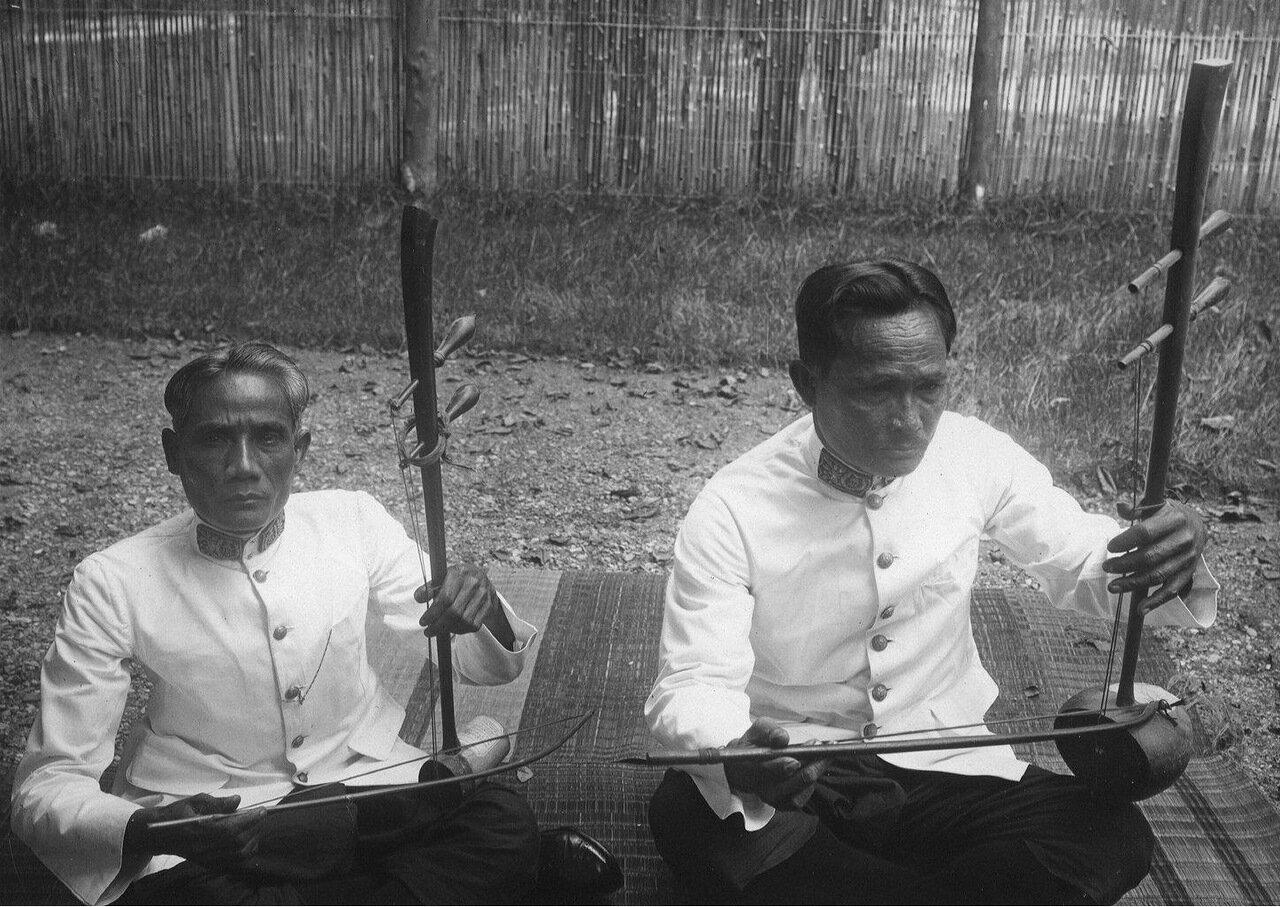 Камбоджа. Струнный инструмент тро