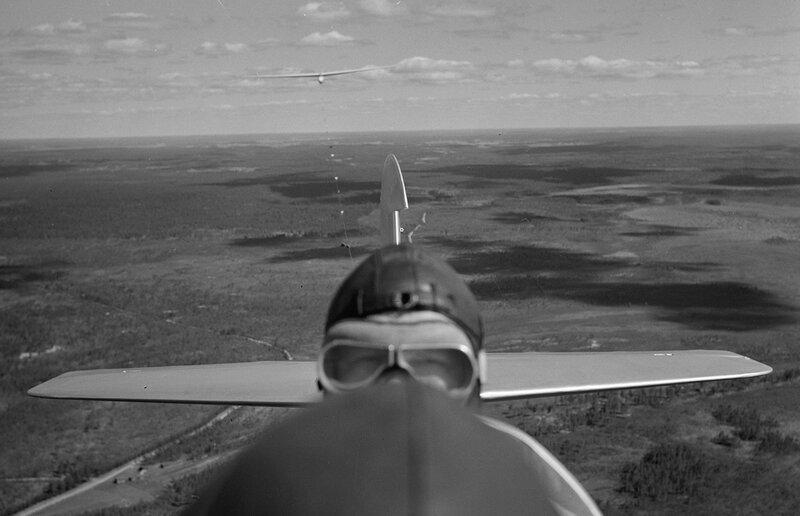 Finnish pilot in action above Jämijärvi. July 17, 1942