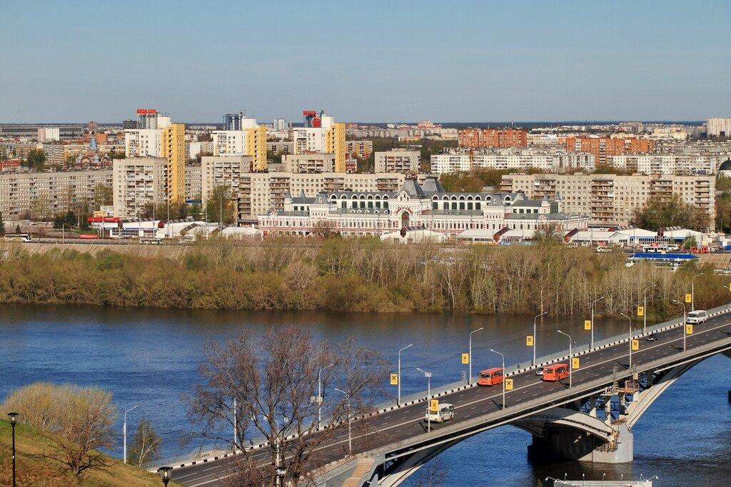 Канавинский мост, здания Нижегородской ярмарки и жилая застройка