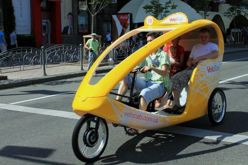 Электровелотакси на Крещатике