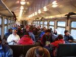 Почти полный вагон туристов