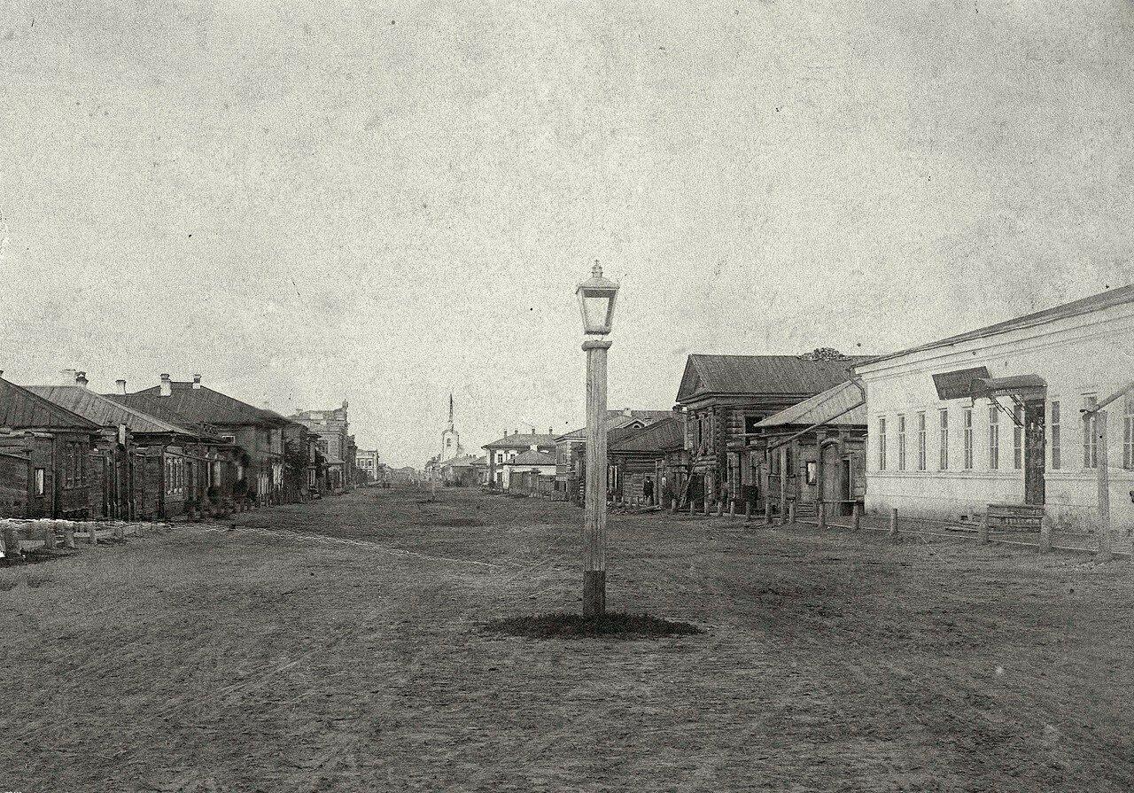 Перспектива Благовещенской улицы от Театрального переулка в направлении на восток