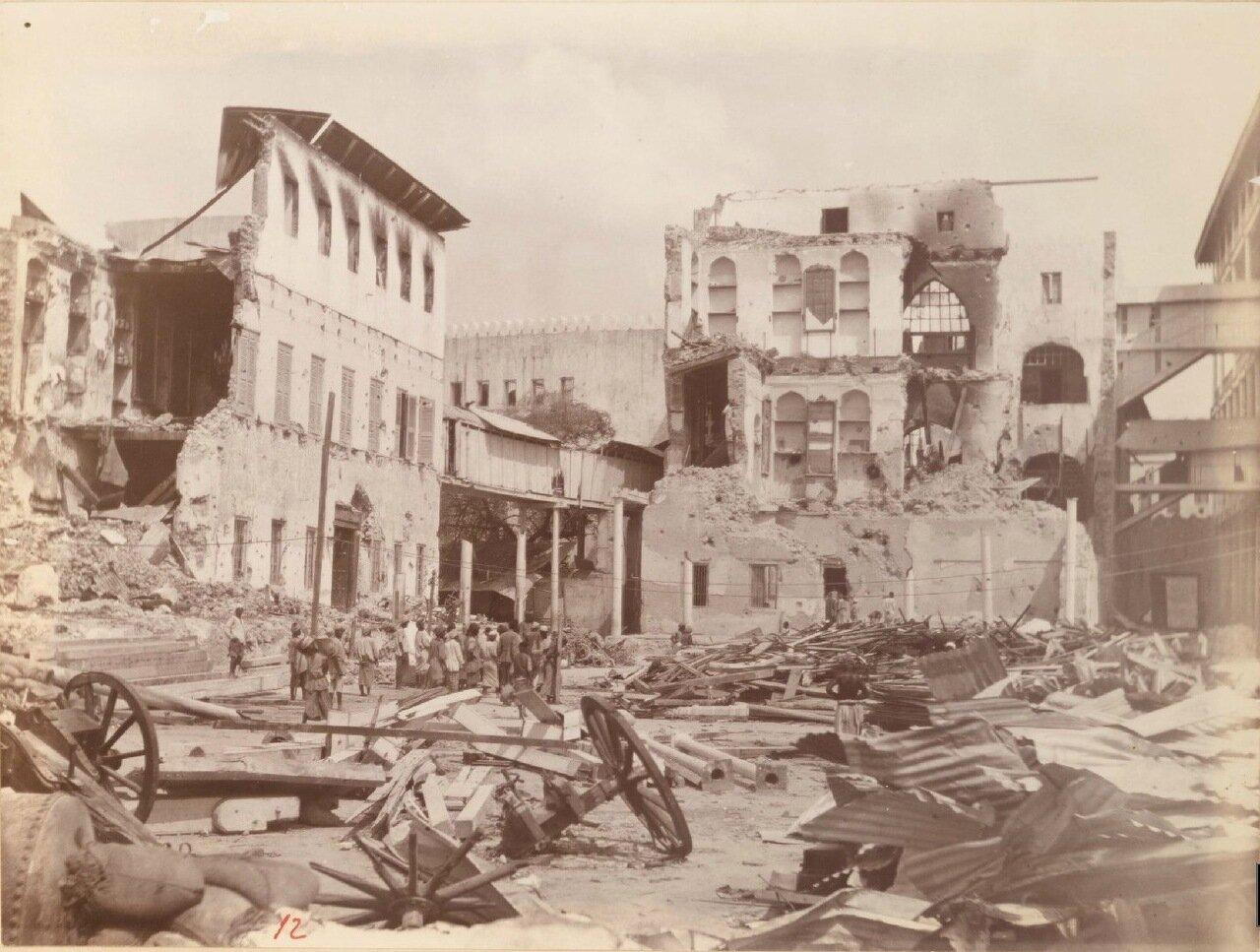 Последствия бомбардировки