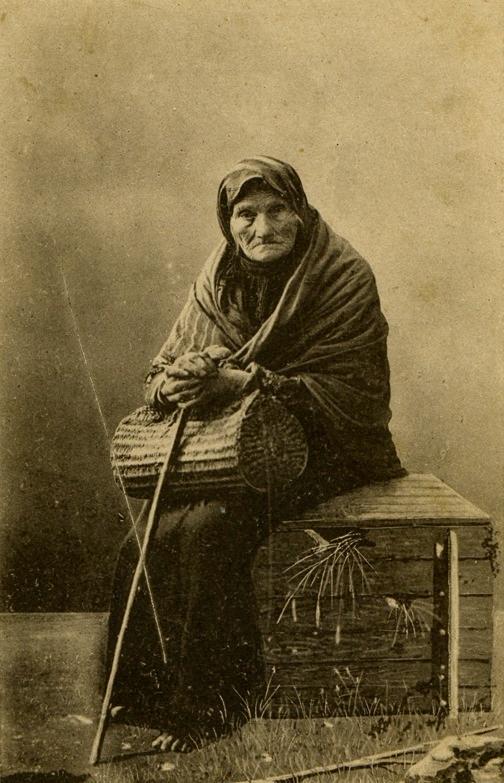 Portrait of an elderly Ukrainian woman, 1900's. Photo by Vladimir Kozyuk