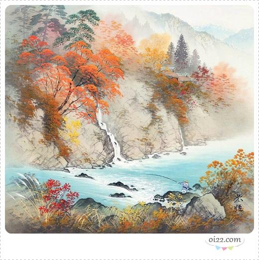 ❤图片&插画-来自日本著名画家小岛光径的山水绘画艺术作品欣赏(oi22.com)