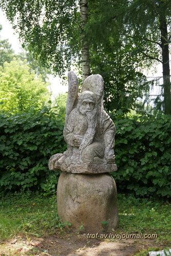 Солнечногорск, городской парк, необычные памятники