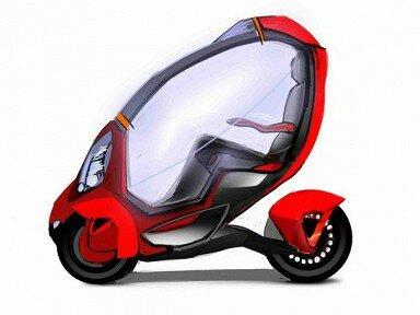 Экологический транспорт - электромобиль-трансформер
