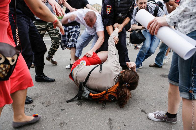 ЛГБТ акция в Гайд-парке Парка Горького 25 мая 2013