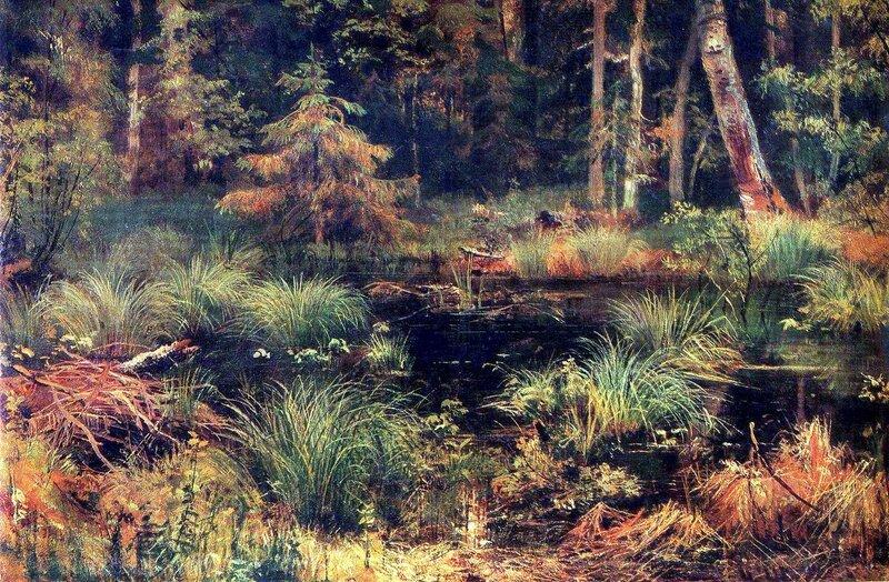 Русские художники, музеи, живопись, И.И. Шишкин, Родник в лесу