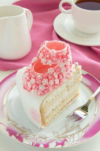 Cream cake on a child's birthday.