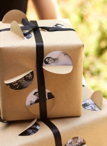 Упаковка с фотографиями