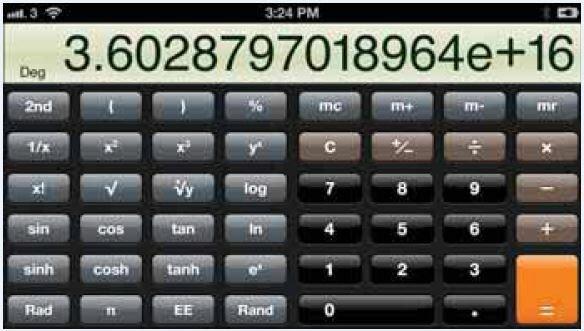 Использование приложения «Калькулятор»