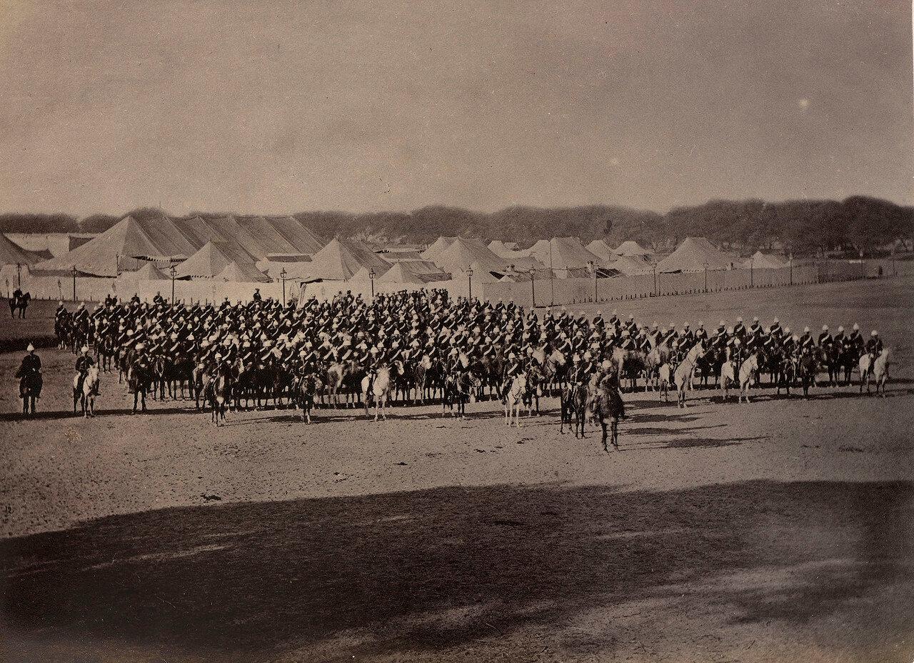 34. 10-й Королевский гусарский (Личный Его Высочества Принца Уэльского) полк на параде