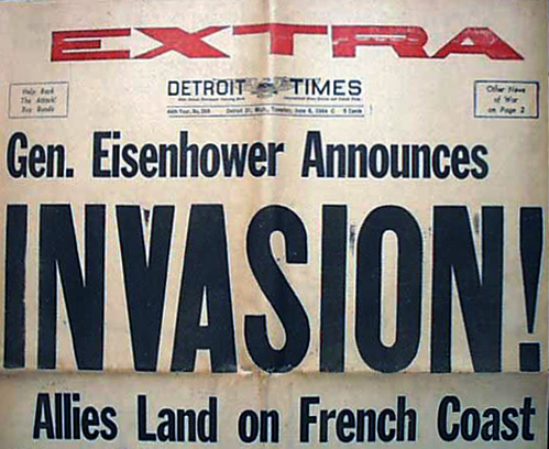 The 'D' in 'D-Day' stands for 'Day' - June 6, 1944