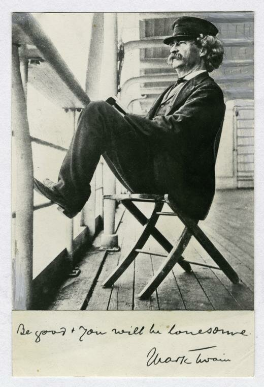 Mark Twain on his way around the world in 1897