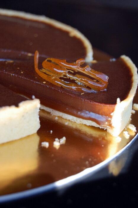 тарт шоколад и карамель