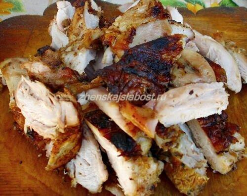 мясо для салата с курицей