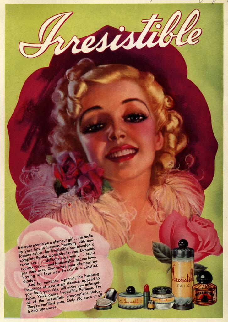 Плакат с рекламой косметики
