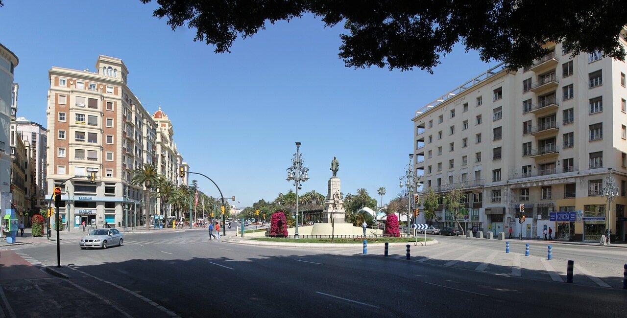 Малага. Площадь Аламеда Принсипаль