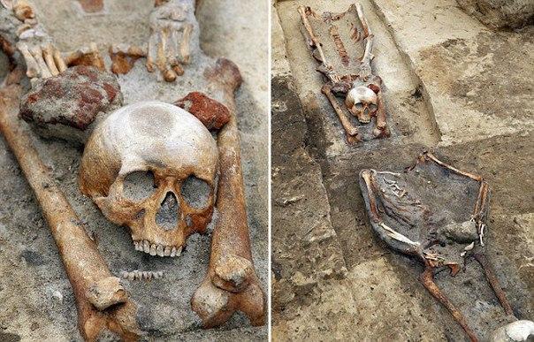 В Польше нашли останки вампиров (1 фото)