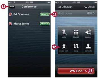 iPhone поставит разговор со всеми другими участниками в режим ожидания