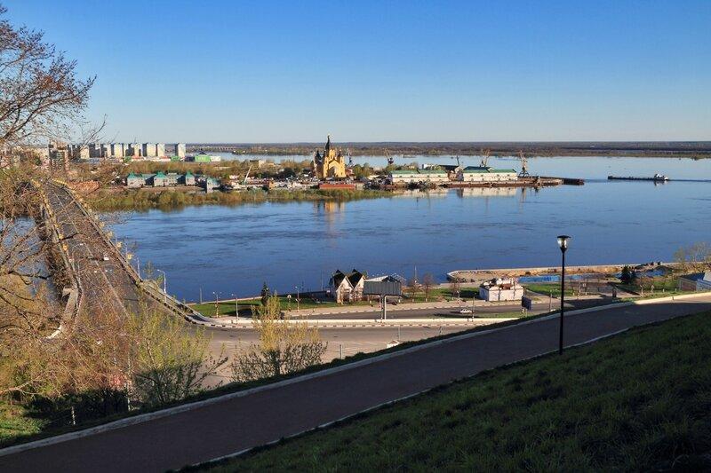 Канавинский мост и Стрелка, Нижний Новгород
