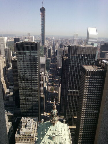 Нью-Йорк. Вид на Манхэттен из окон офиса компании «MetLife»