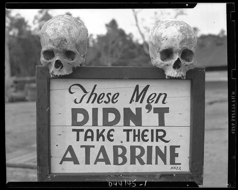 Graphic reminder for US troops. The Philippines, 1945