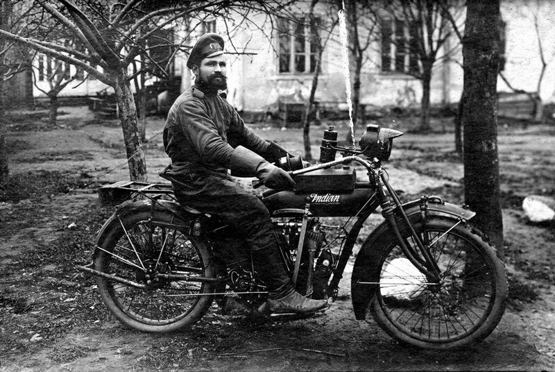 Opening of the motorcycle season. 1914-1916