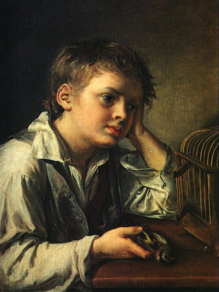 Мальчик с мертвым щегленком. 1829.jpg