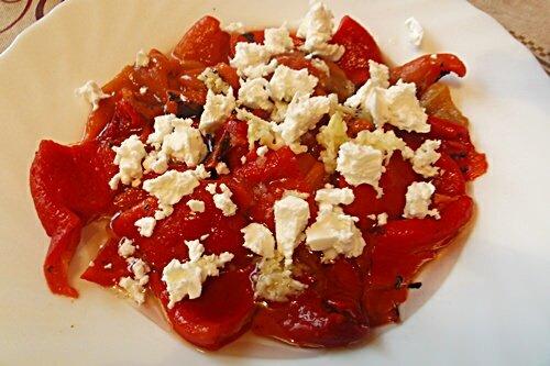 салат из брынзы и болгарского перца