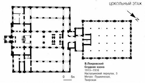 Ссудная казна в Москве, план