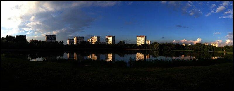 Панорама Головинских прудов