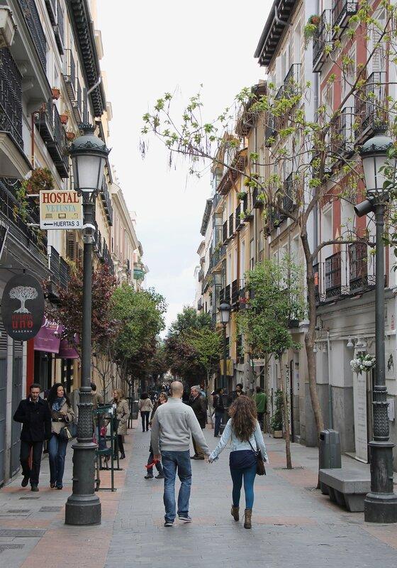 Madrid. Huertas street (Calle de las Huertas)