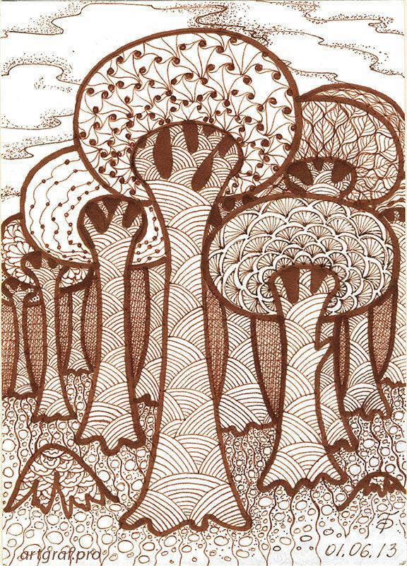 Танглы. Деревья-грибы