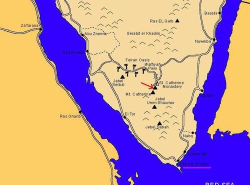 * Краткие сведения к паломнической поездке на гору Моисея.