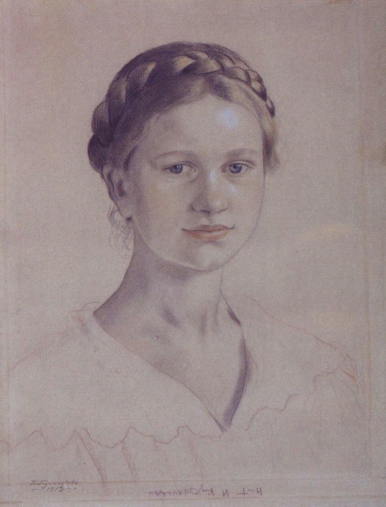 Портрет И.Б.Кустодиевой, дочери художника. 1919.jpg
