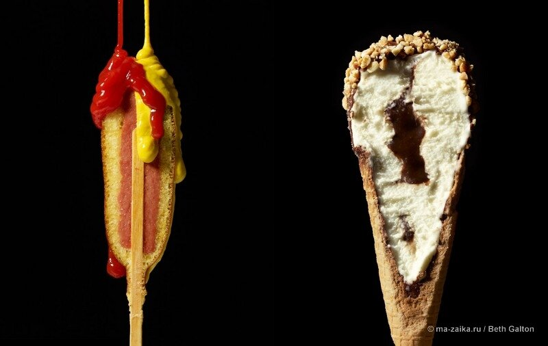 Cut food от Фуд-стилиста Charlotte Omne и фотографа Beth Galton