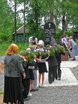 на открытии памятника в селе
