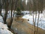 весенний ручей, текущий с Буславского поля