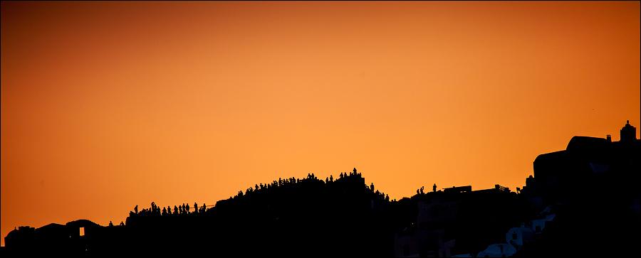 Закат на Саторини