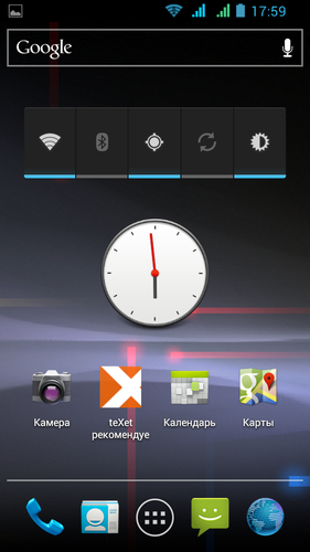 teXet TM-4677, скриншот