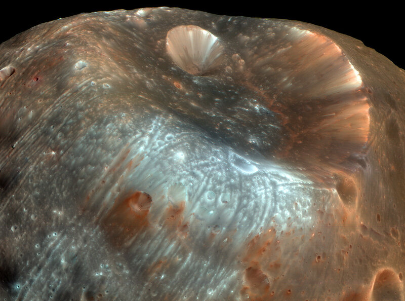 Phobos e Cratera de Stickney