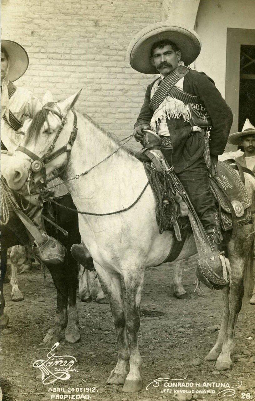 Конрадо Антана, один из вождей революционеров, 20 апреля 1912 г.