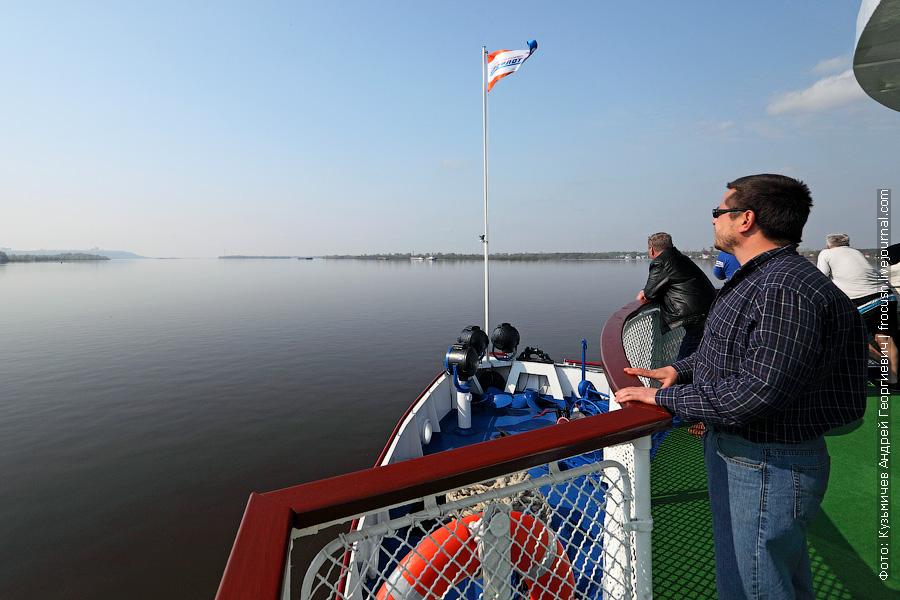 теплоход Василий Чапаев возвращается в Нижний Новгород из круиза по Вятке
